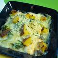 【北欧的お台所レシピ】 残ったおせちを上手にリメイク! - 伊達巻とサーモンのクリームグラタン